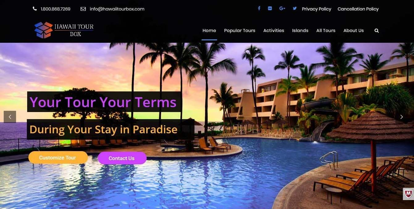 hawaiitourbox-mubieinfotech-portfolio